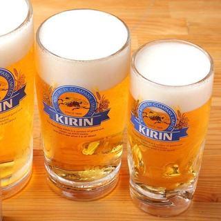 飲み放題メニューは生ビールもOK!