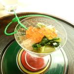 懐石料理 桝田 - 間人蟹とイクラ