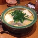 勇気凛々 - 京風もつ鍋(1250円)