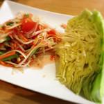 W-Thai - 青パパイヤのサラダ@680(+税)