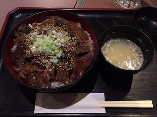 肉家焼肉ゑびす本廛 - 和牛ランプステーキ重¥1,080-