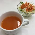KOMAL - 人参とトマトのスープが美味しい