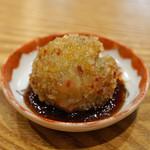 むろまち 加地 - 海鮮焼売 (烏賊、海老、帆立貝、椎茸、大葉 周りは餅米)