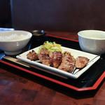 牛たん焼き仙台辺見 - 料理写真:極上厚切りたん焼き定食 1.5人前☆