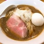 煮干中華ソバ イチカワ - 煮干ソバ 醤油+味玉