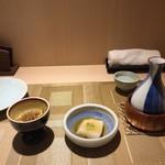 和彩寮 せのうみ - お通しの豆乳豆腐と金平