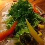 大衆ビストロ 2918 - レバーとささみのカルパッチョの野菜