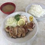 源氏食堂 - ブタ肉塩焼ライス 上 ¥1,100-