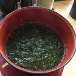 63558462 - 青海苔のお味噌汁