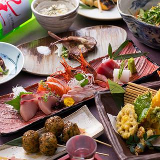【各種ご宴会に】厳選食材を使用した鳥魚自慢のコース