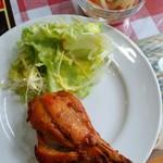 インド・ネパール料理 ディップキッチン - タンドリーチキン、アチャール(サービス)