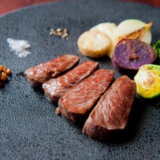【フレンチ×鉄板焼】ステーキ2種のコース全7品が4000円