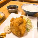 むらこし食堂 - 鯵フライ定食