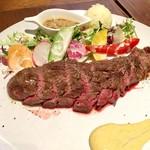BOICHI - 葡萄牛薫火焼きステーキ(120g) ランチパスポート利用で@1,700円→@1,000円 こちらにライスorごはん、スープがセットです。