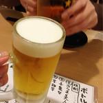 63568453 - 良い泡!良い割合!乾杯~!