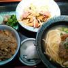 やいま食堂 - 料理写真:選べる3点セット(フーちゃんぷる・ソーキ・じゅーしー)