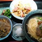 やいま食堂 - 選べる3点セット(フーちゃんぷる・ソーキ・じゅーしー)