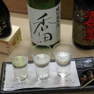 松きち - ドリンク写真:舞鶴・丹後の地酒飲みくらべセット(2,000円)