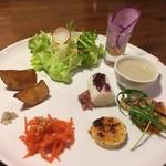 燙菜 - 地野菜のプレートセットです。