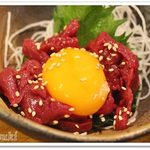 63574716 - 桜肉ユッケ