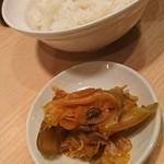 63575640 - Bセットのご飯&ザーサイ
