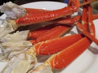 オールデイ・ダイニング ブローニュ - ズワイ蟹氷上盛り:ポン酢 レモンで頂ます。北海道フェア期間中は ズワイガニ も 食べ放題です。