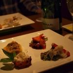 カルシファーズ・グリル アラ トスカーナ - 季節の前菜ワゴン(10種類以上から3種チョイス+京野菜バーニャカウダ)