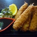 かましま - エビフライ単品(756円)