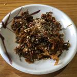博多豚骨黒豚ブラザーズ - サービスの辛子高菜