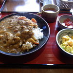 oni cafe - 根菜がたっぷり入って美味しかったです。少し甘くてお子さんでも食べれます。