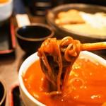 番馬亭 - 貪欲セット(カレーつけ麺:激辛)