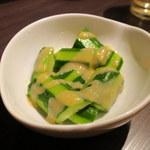 餃子バル - きゅうりの酢味噌和え