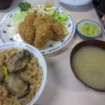 磯野家 - 牡蠣飯&カキフライ1840円