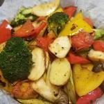 ホシギ2羽チキン - 鉄板野菜盛り合わせ