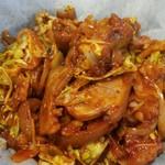 ホシギ2羽チキン - 豚足野菜炒め