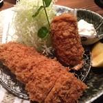 名代とんかつ かつくら キュービックプラザ新横浜店 - 蟹のクリームコロッケとヒレかつ膳
