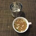 タンドリーレストランアサ - 料理写真:ランチにはサラダとスープがセットです。