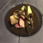和キッチンしん介 - ローストビーフと綾豚と筍の煮付け