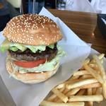 ブッチャーズテーブル - アボカドチーズバーガー セット
