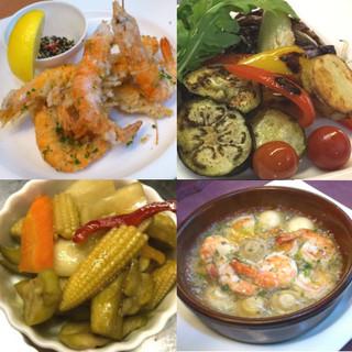 毎朝市場買い付け!新鮮な魚介&旬野菜を堪能