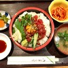 和の花 - 料理写真:まぐろユッケ丼 680円 大盛り無料