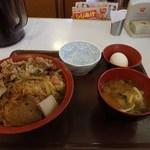 すき家 - 牛すき焼き丼たまごセット