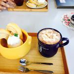 カフェ ティッペル - アイス&バームクーヘン   ココア