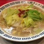 元祖タンメン屋 - 岐阜タンメン(2辛):650円 + 野菜増量:100円