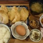 63614363 - 鶏天麻婆タルタル定食850円は、13時以降は龍の玉子付き