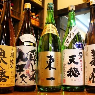 日本酒や地酒も豊富に取り揃えております