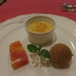 クッチーナ・ヒコ - パスタセットの特製デザート
