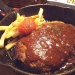塊肉ステーキ&ワイン Gravy'sFactory - デミハンバーグ(745.2円)