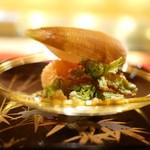 にくの匠 三芳 - 筍とふきのとうの天ぷら