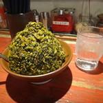 ラー麺ずんどう屋 - 山盛りの辛高菜